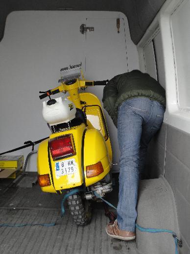 Una de las motos ya esta en casa